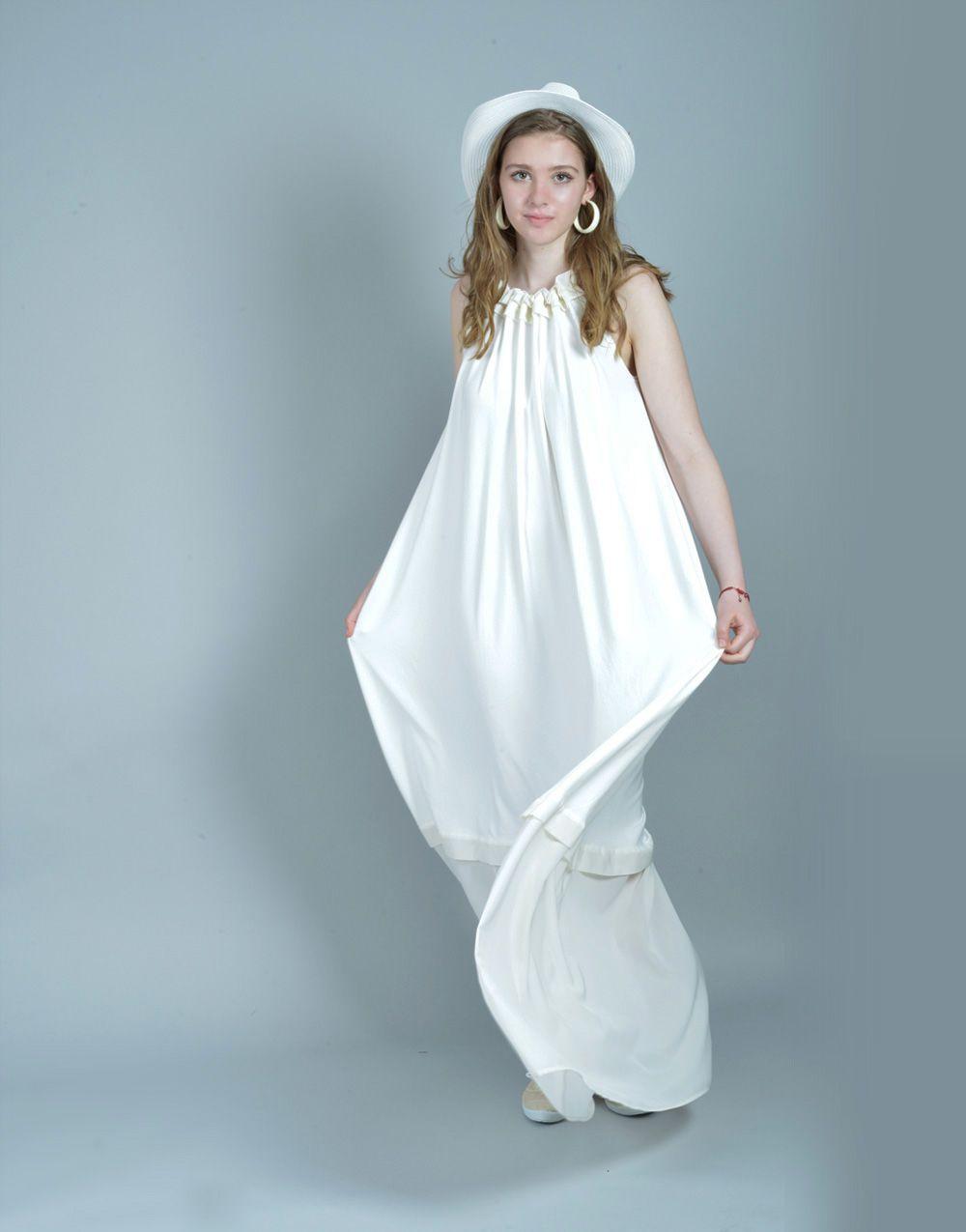 White Summer Dress, White Maxi Dress, Plus Size Maxi Dress, Beach ...