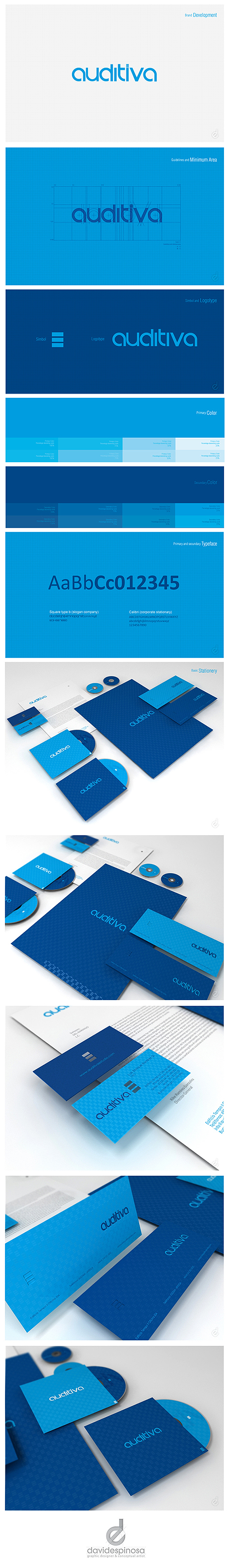 Brand Development AUDITIVA  by David Espinosa, via Behance