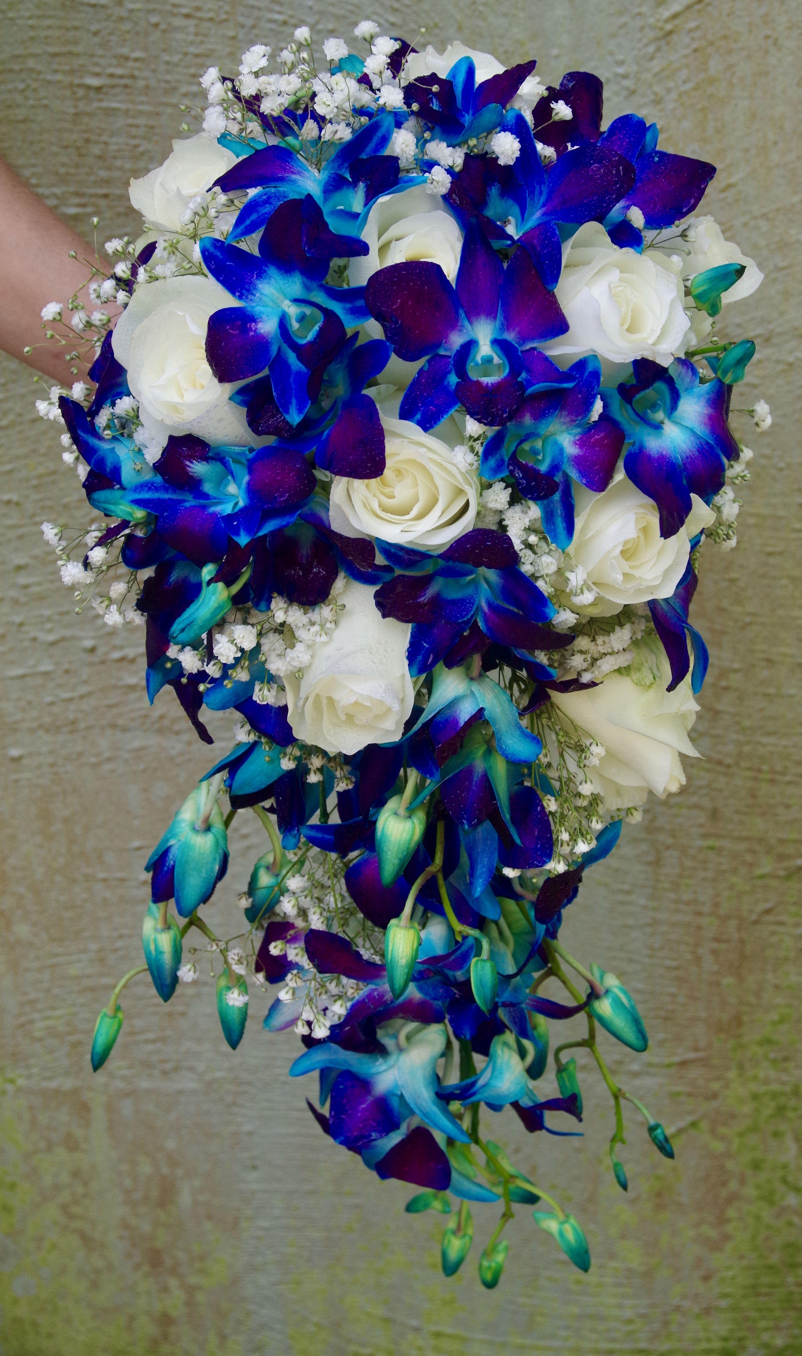 Bouquet Sposa Orchidee Blu.Blue Orchid Bouquet Bouquet Matrimonio Bouquet Da Sposa