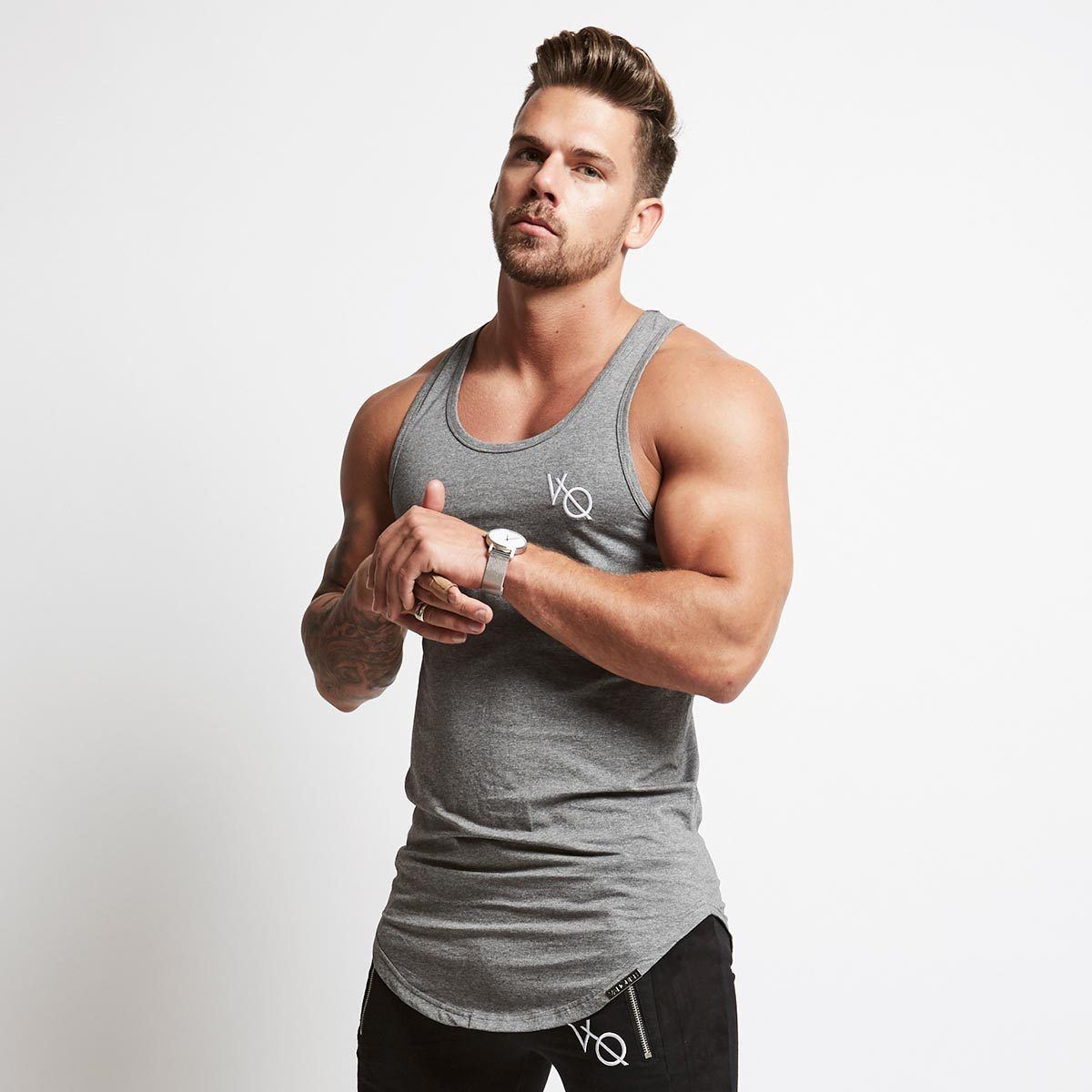 Men Casual Summer Vest Gym Training Fitness Sports Muscle Sleeveless Shirt Tops