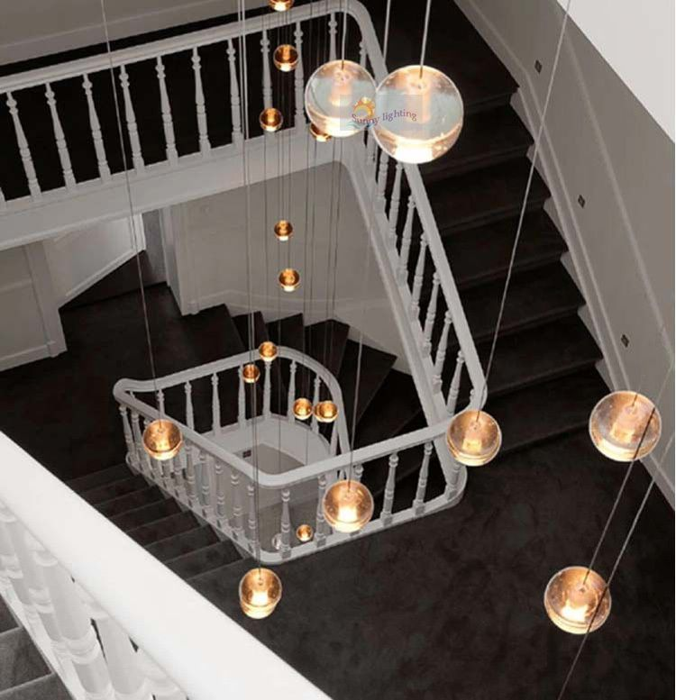 stairwell lighting. duplexhousenoveltyg4ledpendantlightsstairwelllightingstaircaselargecrystalballledstriplustresjpg 750777 trap pinterest chandeliers stairwell lighting