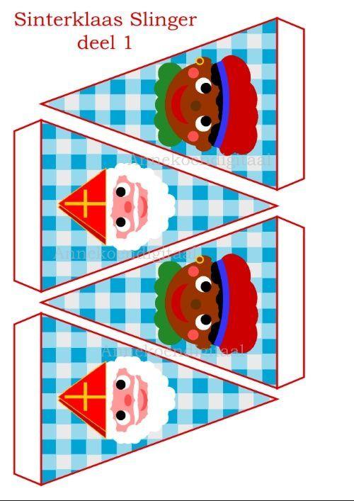 Sint en Piet Slinger - Vlaggenlijn #sintenpiet Sint en Piet Slinger - Vlaggenlijn #sintenpiet