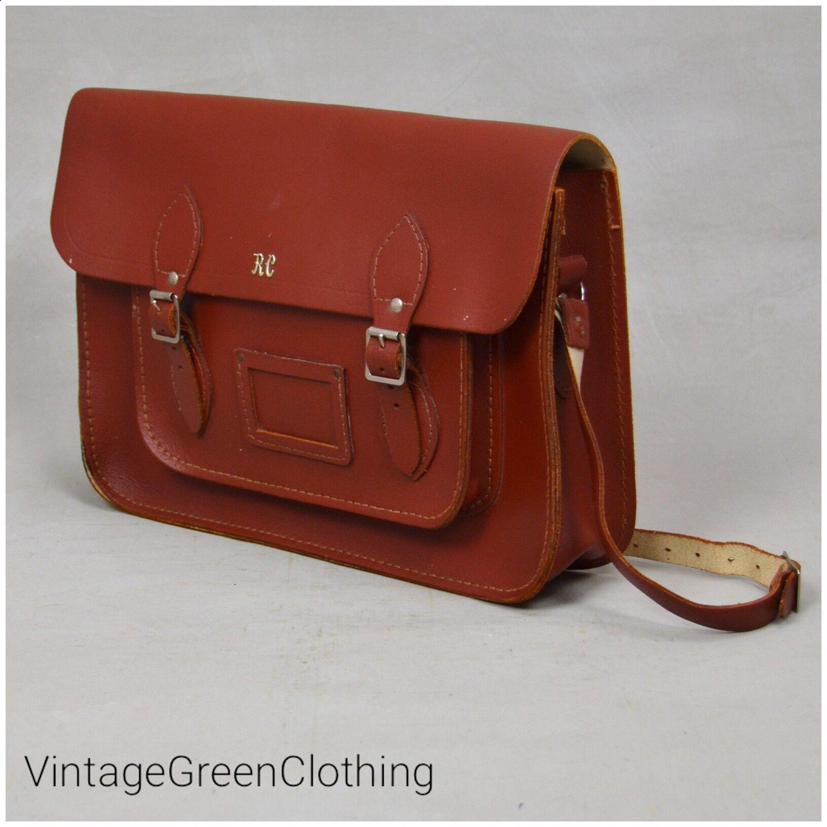Vintage School Satchel 1960 S Brown Tan Leather Satchel With Adjustable Shoulder Strap English School Bag With Buckle Fastening Satchel School Satchel Leather Satchel