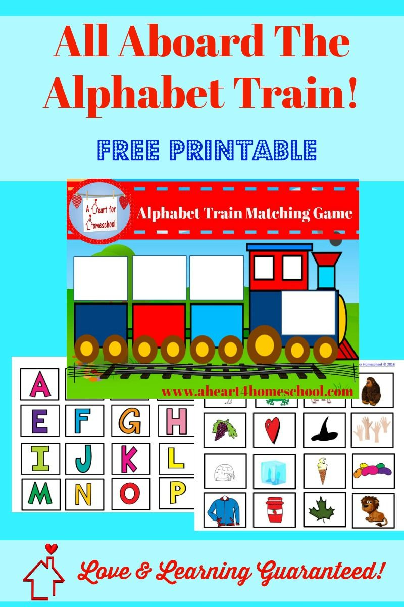 Alphabet Train Matching Game | Free Printables for Homeschoolers ...