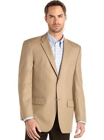 Sport Coats - Joseph & Feiss Tan Herringbone Sport Coat - Men's Wearhouse