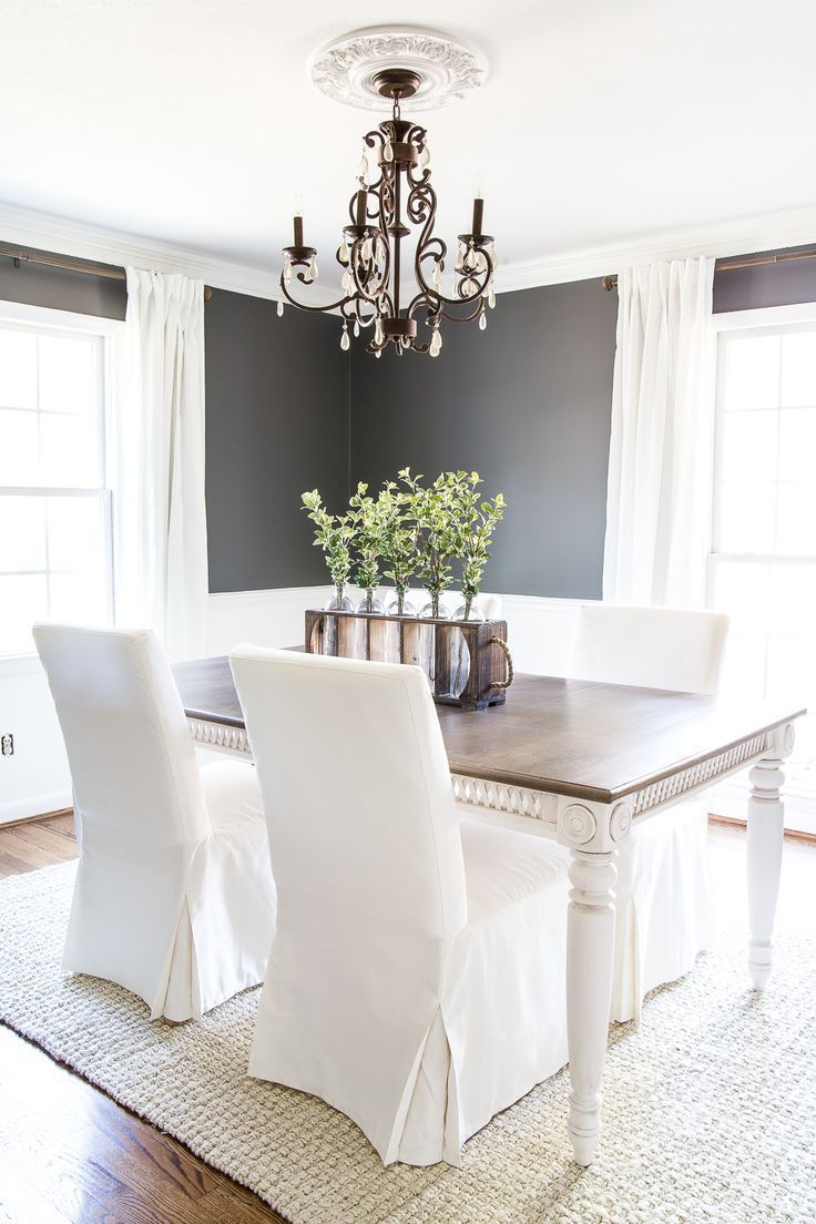 Two Tone Dining Table Makeover | Dining table makeover, Paint ...