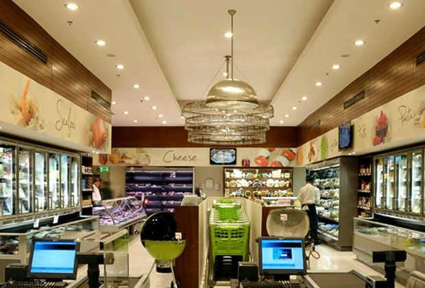 Gourmet Egypt's retail store interior were designed with