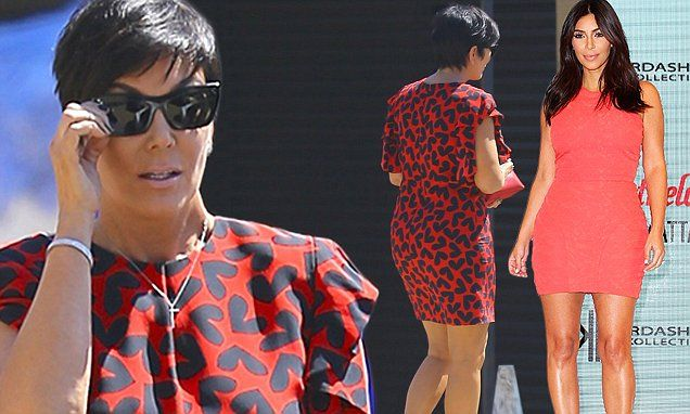 fdebd5896e Kris Jenner gives Kim Kardashian a run for her money in red dress ...