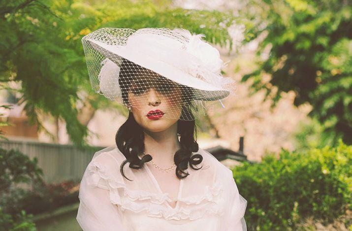 Vintage Inspired Wedding Hat Haute Couture Bridal Style Original 0 Best Free Home Design Idea Inspiration
