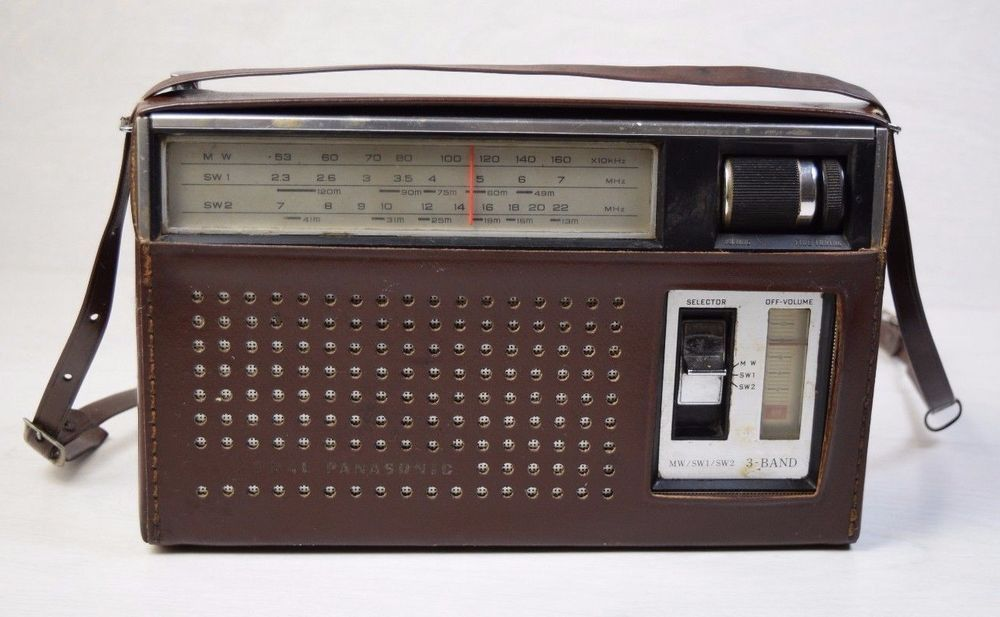 Vintage National Panasonic Model R 312 3 Band 8 Transistor Portable Radio Retro Radio Transistor Radio Portable Radio