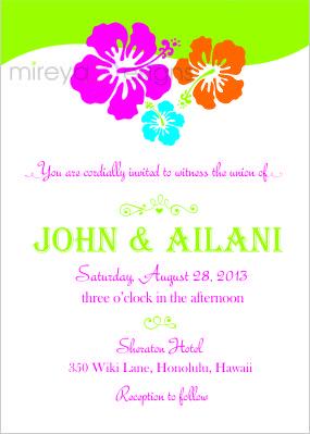 hawaiian wedding invitation kimmys likes pinterest