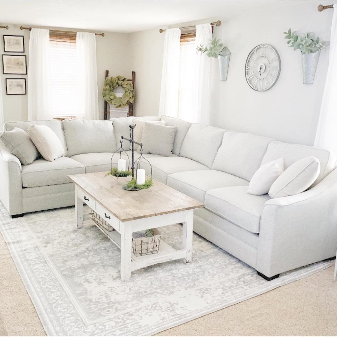 Hazelton 3 Pc Sectional Sofa Sectional Sofas Raymour Flanigan Furniture And Mattresses Farm House Living Room Living Room Sofa White Furniture Living Room #raymond #and #flanigan #living #room #set