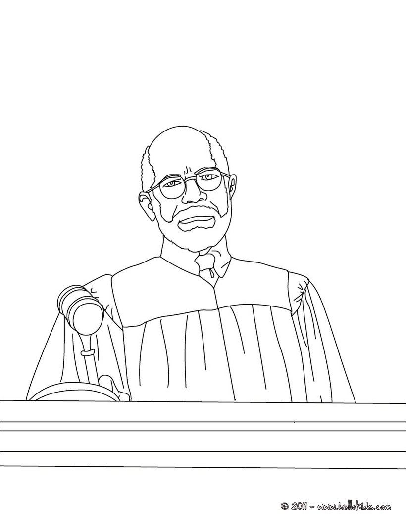 Judge Listening To Attorne Coloring Page Amazing Way For Kids To