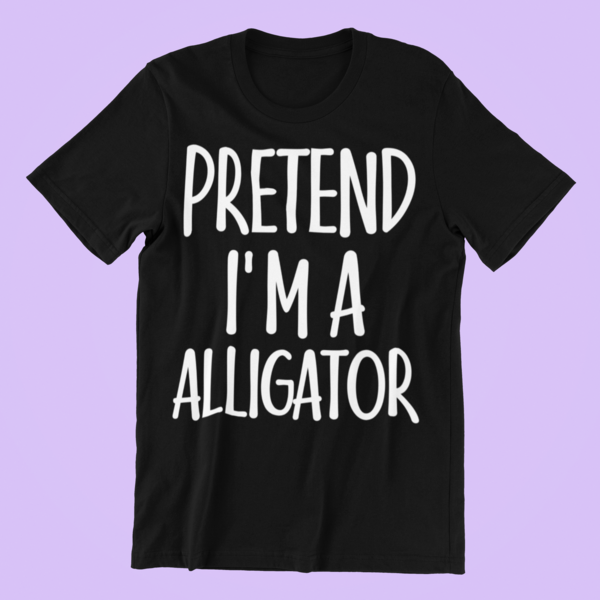 Vintage Lazy Costume Gift Idea for Men/Woman - Pretend I'm Alligator T-Shirt. Great suitable to accessories: witches hat, towel, diy, pants, scull, jack o lantern lights. This Tshirt - Surprise for dad, family, father, zombie, gardener, animals lover, farmer on new year, Scary night party. #mamp;mcostumediy