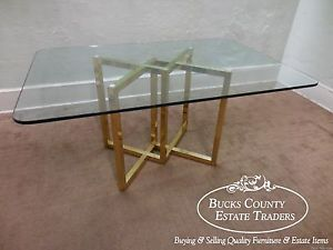 Midcenturymodernitalianbrassbaseglasstopdiningtable Simple Italian Glass Dining Room Tables Design Decoration