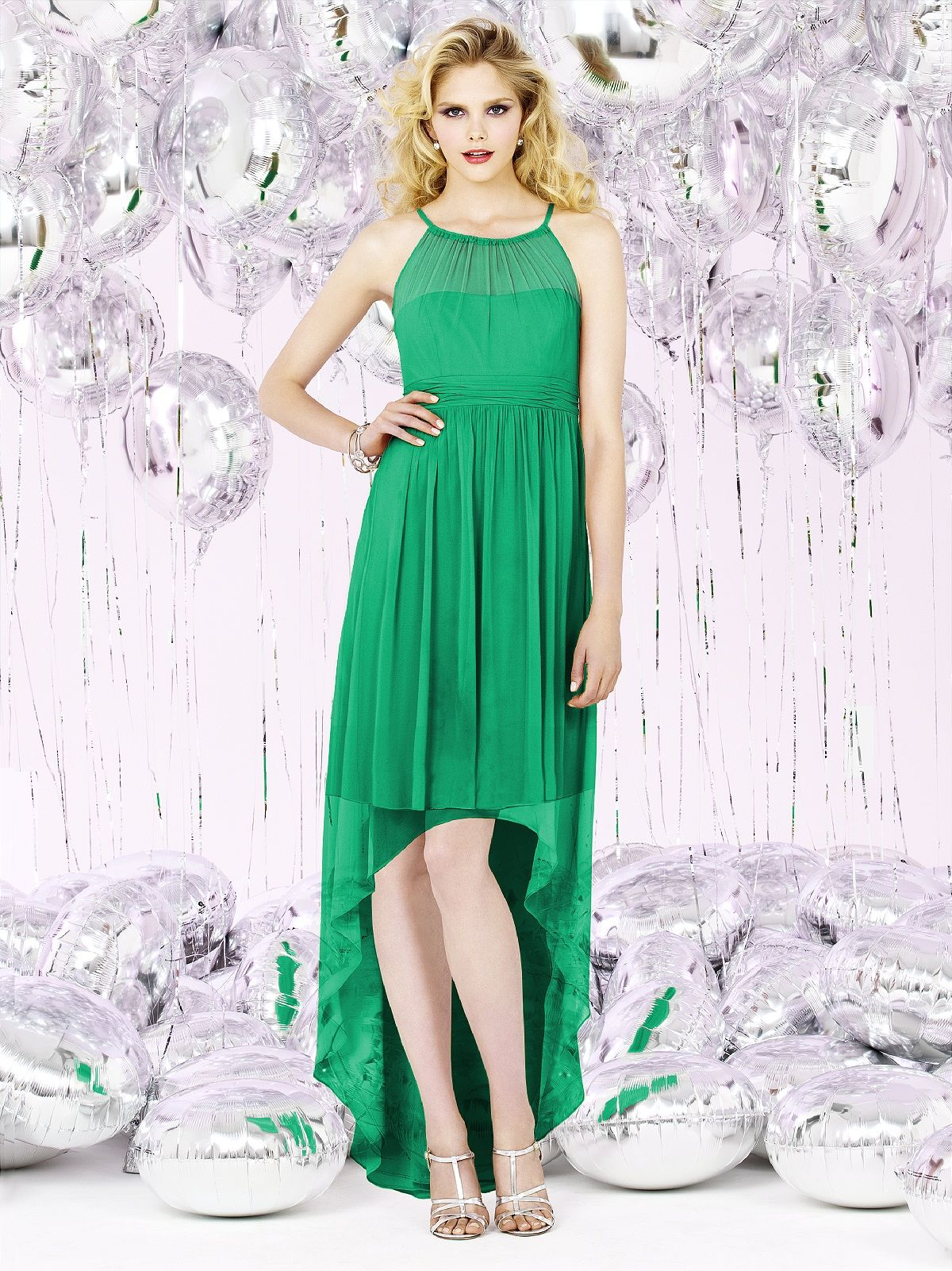 Green dress for wedding  Social Bridesmaids Style   Pantone color Pantone and Emeralds
