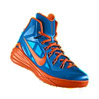 I designed the photo blue Nike Hyperdunk 2014 iD men's basketball shoe with  orange blaze trim