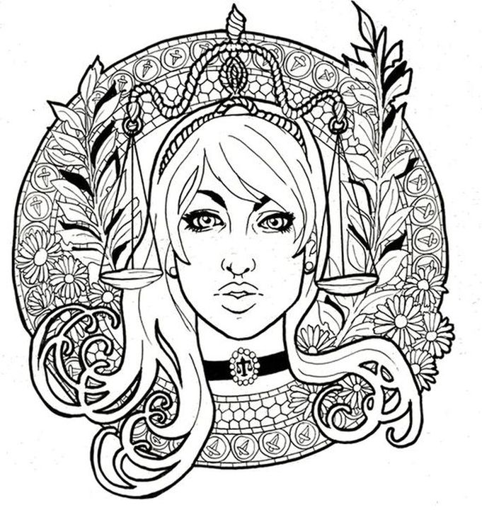 libra difficult coloring pages of zodiac signs if youre in