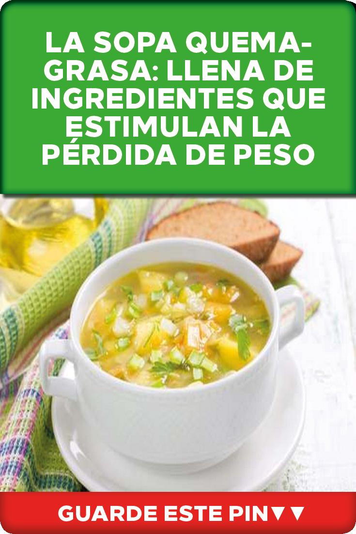 ingredientes dieta sopa quema grasa
