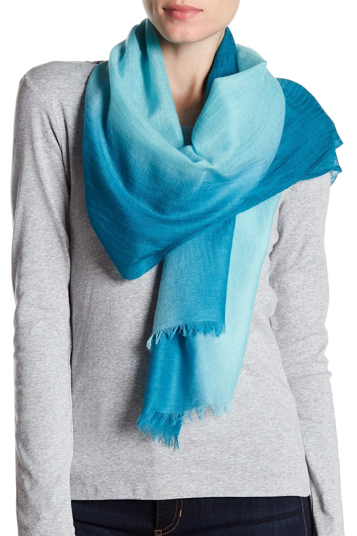 amicale | lightweight cashmere dip dye scarf | dip dyed, cashmere