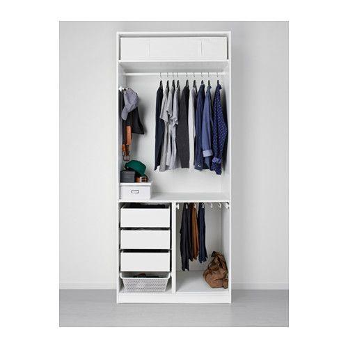PAX Armoire-penderie - charnières standard, 100x60x236 cm - IKEA ...