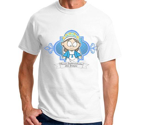 Lindas camisetas com a estampa do seu santo favorito. Nossa Senhora das Graças.