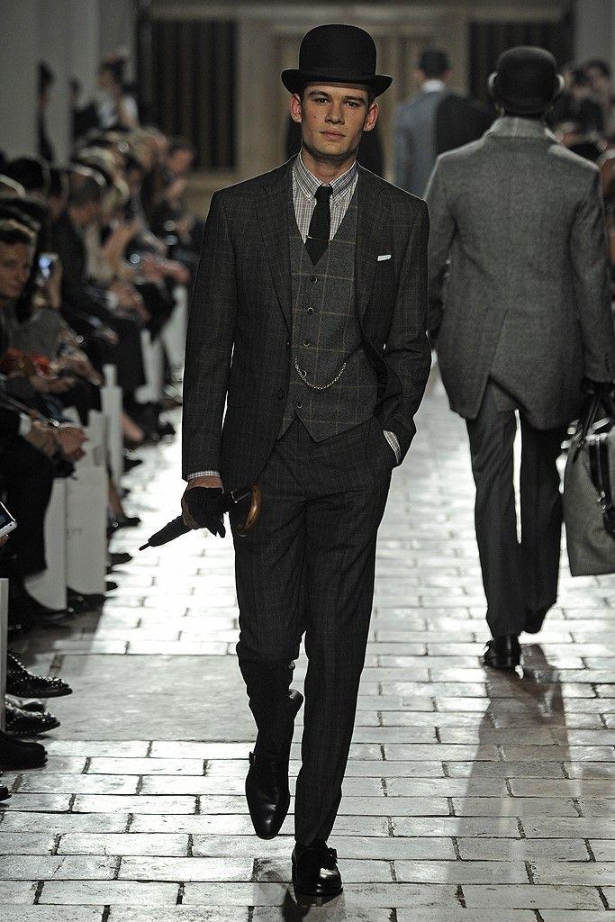b8b8ff8d2af71 Hackett London Men s RTW Fall 2013 - inspired by men s Edwardian morning  coat and vest