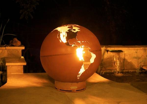 """One of a kind """"fire pit"""" - OMG how amazing would THIS look ..."""