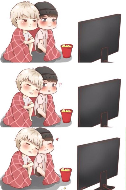 BTS Suga and Jimin fan art