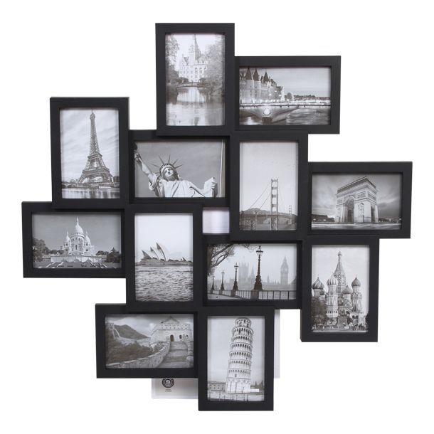 Portarretratos para 12 fotos puestas en desniveles. En pl stico ...