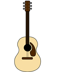 Acoustic Cartoon Guitar Step By Step Drawing Lesson Cartoon Drawings Guitar Drawing Guitar