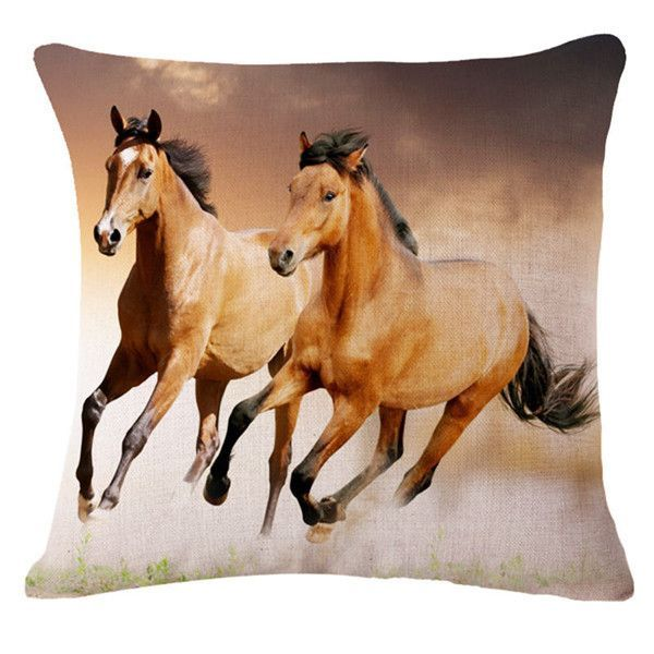 3d Horse Pattern Decorative Throw Pillows Cover 18x18 Case Only Horse Wallpaper Beautiful Horses Horses