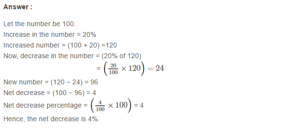 Percentage Rs Aggarwal Class 7 Cbse Maths Solutions Exercise 10b Maths Solutions Math Solutions