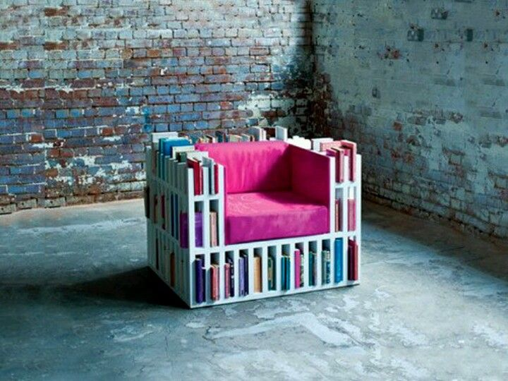 A book chair...I need this!