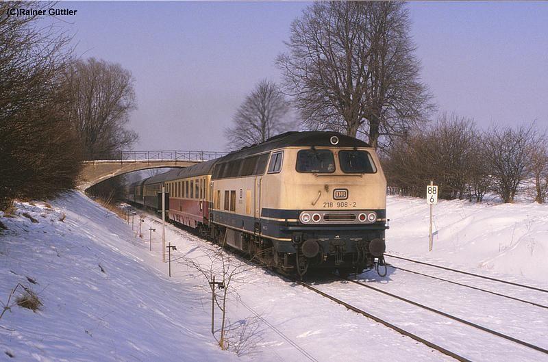 28. Februar 1986 Zuführung der Leergarnitur für IC 1501 ...