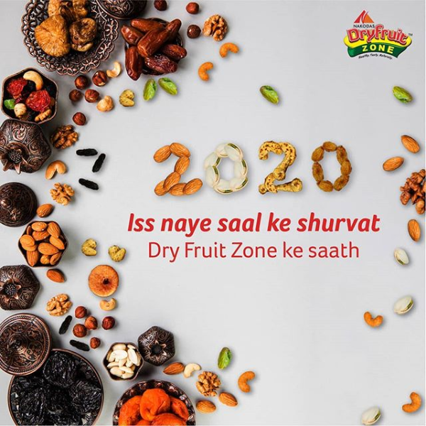 As we bid adieu to the year gone by, let the bygones be bygones. Resolve to shed those extra kilos & trim those extra inches. Make the switch to healthy snacking & satiate your cravings without worrying about excess calories !  #DryFruitZone #Nakodas #DryFruits #Festive #Healthy #HealthFood #HealthySnack #dryfruit #fruitarian #saynotojunkfood