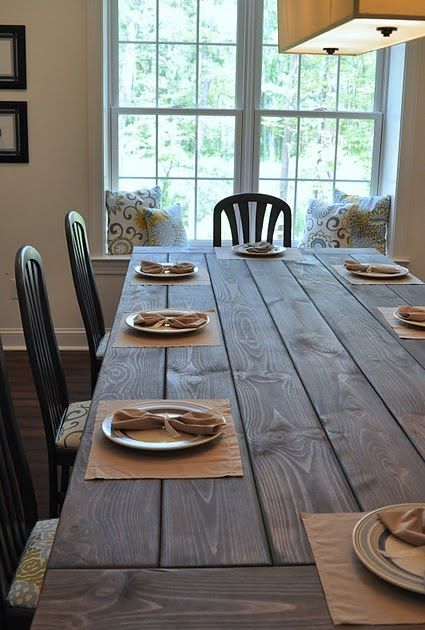 One Thrifty Chick DIY Farmhouse Table Budgeting, Room and Tables