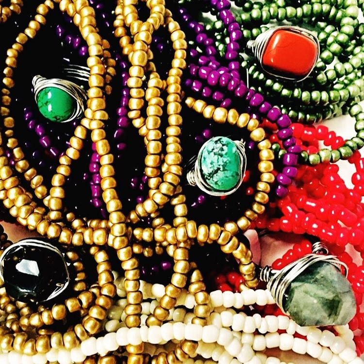 Handmade jewelry designs, handmade jewelry ideas, handmade jewelry inspiration from Emily & Ollie by Heidi Beautiful semi precious gemstone art