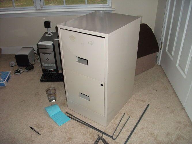 2 drawer filing cabinet smoker
