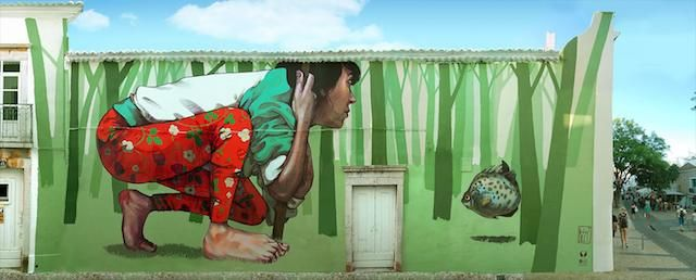 Many of these paintings were done in collaboration with artist Bezt form Etam Cru
