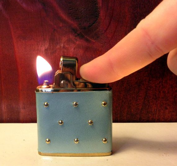 ON SALE Vintage Prince Gardner Baby Blue Studded Lighter by TheLeafery, $30.00