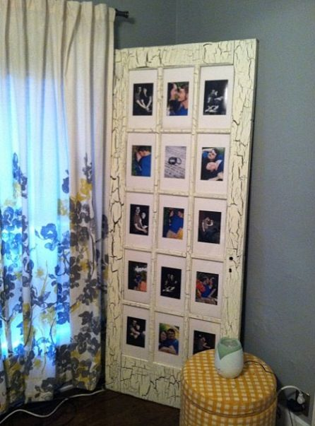 Turned An Old French Door That I Found For Free Into A Picture Frame With Some Matte Board And Plexi Old French Doors French Doors Interior French Door Decor