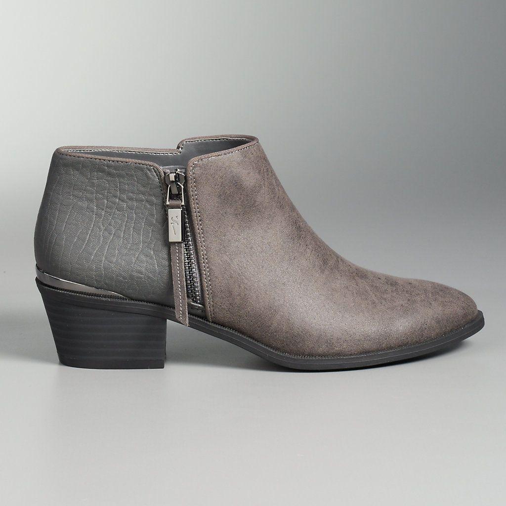Simply Vera Vera Wang Women's Block Heel Ankle Boots | null