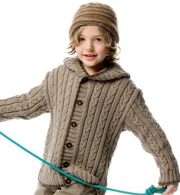 modele gilet garcon tricot