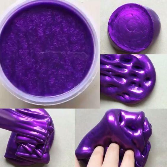 metallic slime slime putty schleim schleim selber machen slime rezepte. Black Bedroom Furniture Sets. Home Design Ideas