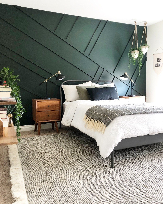 Emerald Accent Wall : emerald, accent, Decorating, Emerald, Green, Welsh, Design, Studio, Bedroom, Design,, Interior,