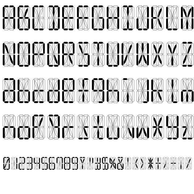 Led 16 Segment Font Segmentation Free Fonts Online Fonts