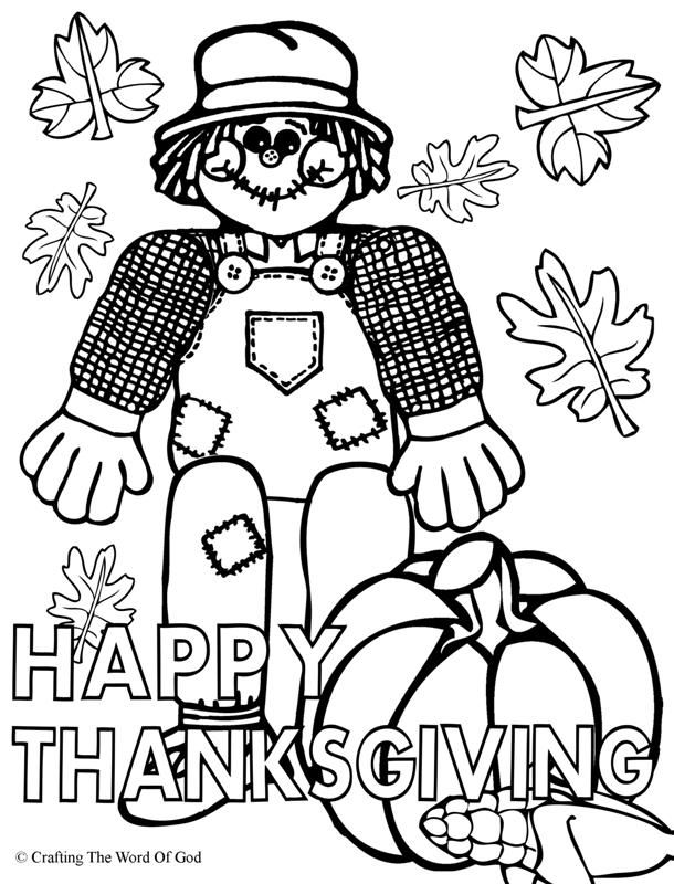 Happy thanksgiving 1 coloring page