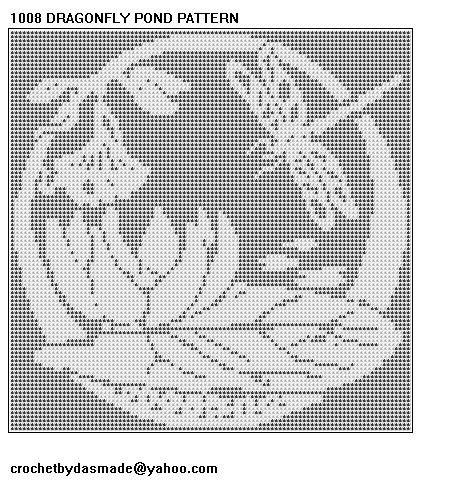 1008 Dragonfly Filet Crochet Doily Afghan Pattern | CROCHETBYDASMADE ...