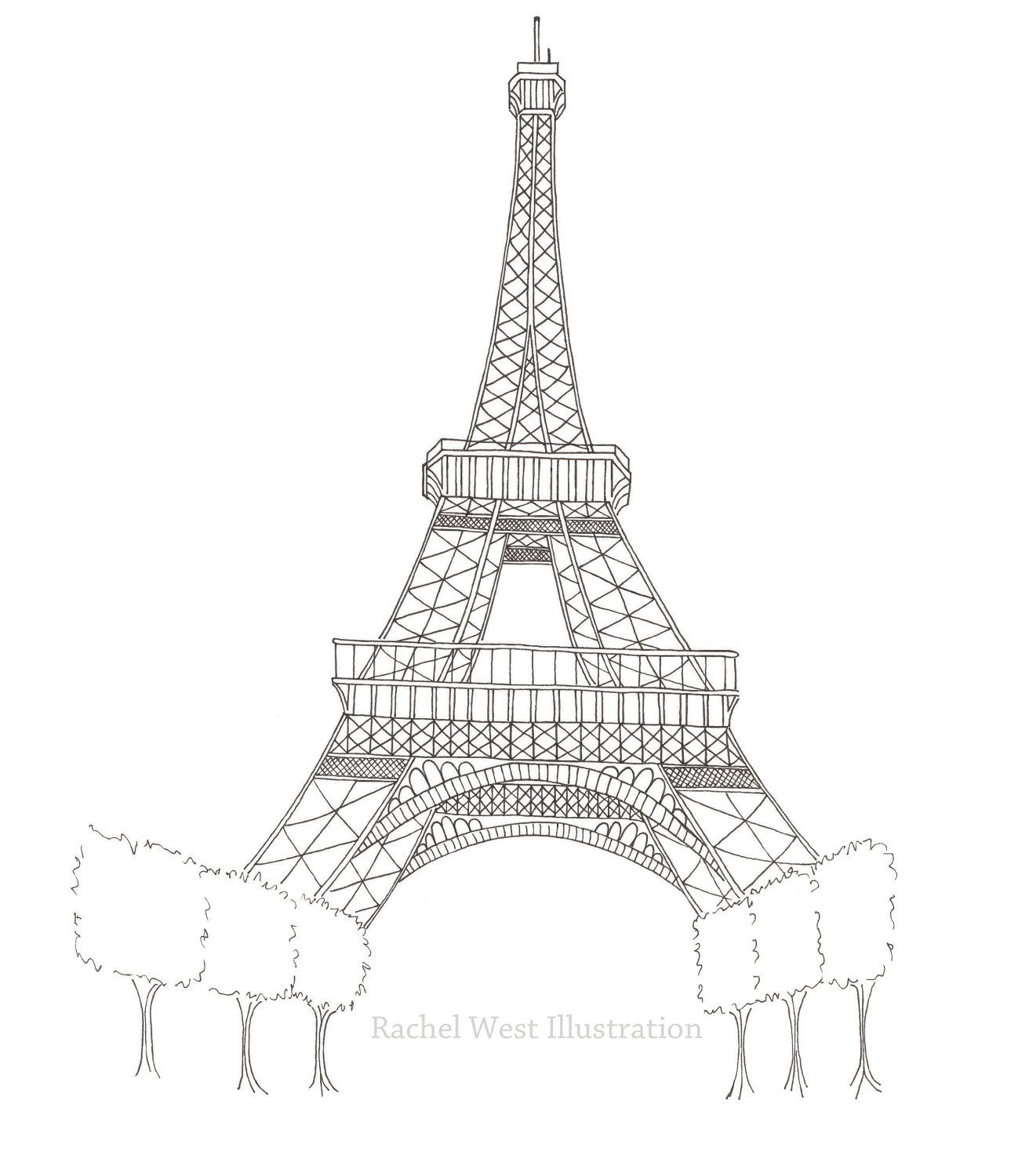 Eiffel Tower Drawing Easy